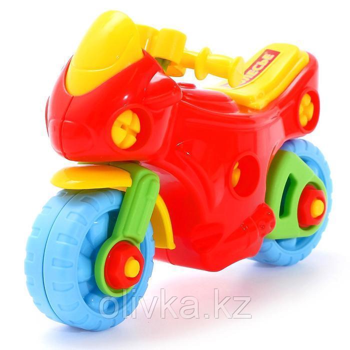 Конструктор-транспорт «Мотоцикл», 25 элементов (в пакете) - фото 2