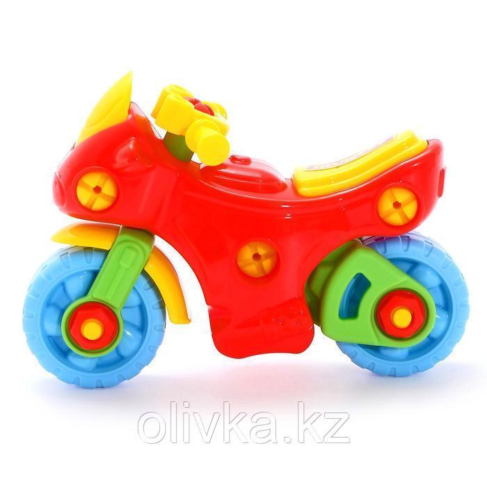Конструктор-транспорт «Мотоцикл», 25 элементов (в пакете) - фото 3