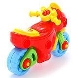 Конструктор-транспорт «Мотоцикл», 25 элементов (в пакете), фото 4