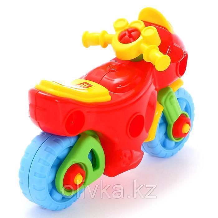 Конструктор-транспорт «Мотоцикл», 25 элементов (в пакете) - фото 4