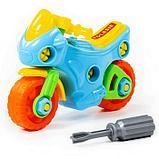 Конструктор-транспорт «Мотоцикл», 25 элементов (в пакете), фото 6