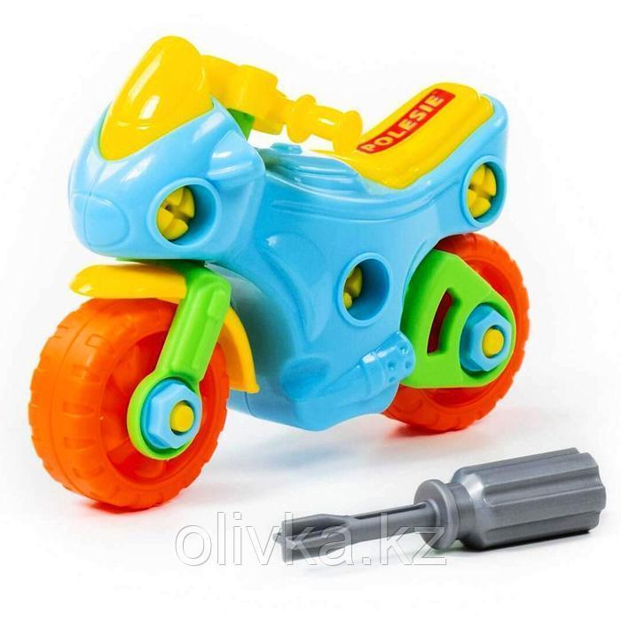 Конструктор-транспорт «Мотоцикл», 25 элементов (в пакете) - фото 6