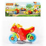 Конструктор-транспорт «Мотоцикл», 25 элементов (в пакете), фото 7