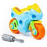 Конструктор-транспорт «Мотоцикл», 25 элементов (в пакете), фото 8