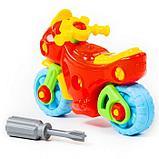 Конструктор-транспорт «Мотоцикл», 25 элементов (в пакете), фото 9