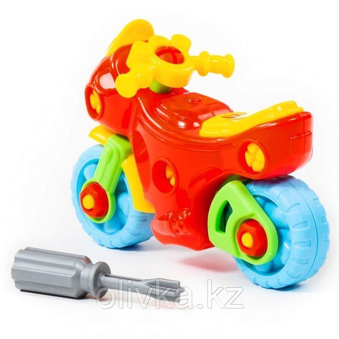 Конструктор-транспорт «Мотоцикл», 25 элементов (в пакете) - фото 9