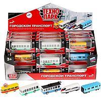 Машина металлическая «Городской транспорт» 7,5 см, цвета МИКС