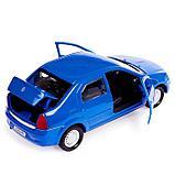 Машина металлическая Renault Logan, открываются двери, инерционная, цвет синий, 12 см, фото 4