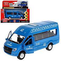 Машина металлическая ГАЗ Газель NEXT синий окрас, 12 см, открывающиеся двери, инерция