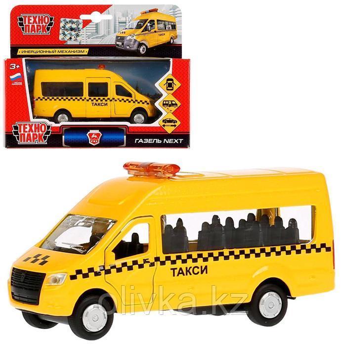 Машина металлическая ГАЗ Газель NEXT такси, 12 см, открывающиеся двери, инерция
