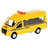 Машина металлическая ГАЗ Газель NEXT такси, 12 см, открывающиеся двери, инерция, фото 2