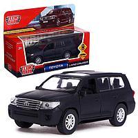 Машина металлическая Toyota Land Cruiser, 12,5 см, инерция, цвет чёрный матовый