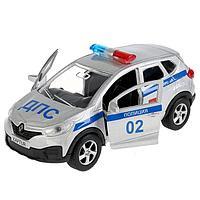Машина металлическая RENAULT Kaptur «Полиция, 12 см, инерционная, двери открываются