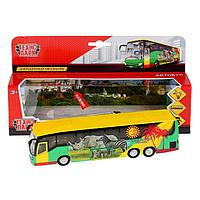 Машина металлическая инерционная «Автобус» 18,5 см, световые и звуковые эффекты, открываются двери