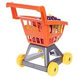 Тележка для супермаркета с фруктами и овощами, цвета МИКС, фото 3