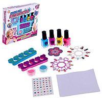 Набор для девочек для маникюра «Салон красоты» с аксессуарами