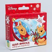 """Новогодний ёлочный шар с фреской """"С Новым годом!"""" Медвежонок Винни"""