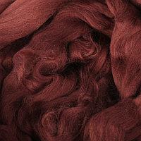Гребенная лента 100% тонкая мериносовая шерсть 100гр (0412, шоколад)