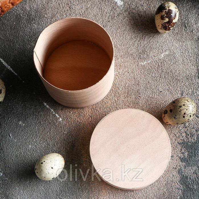 Коробочка подарочная из шпона с крышкой, 75 х 60 мм - фото 3
