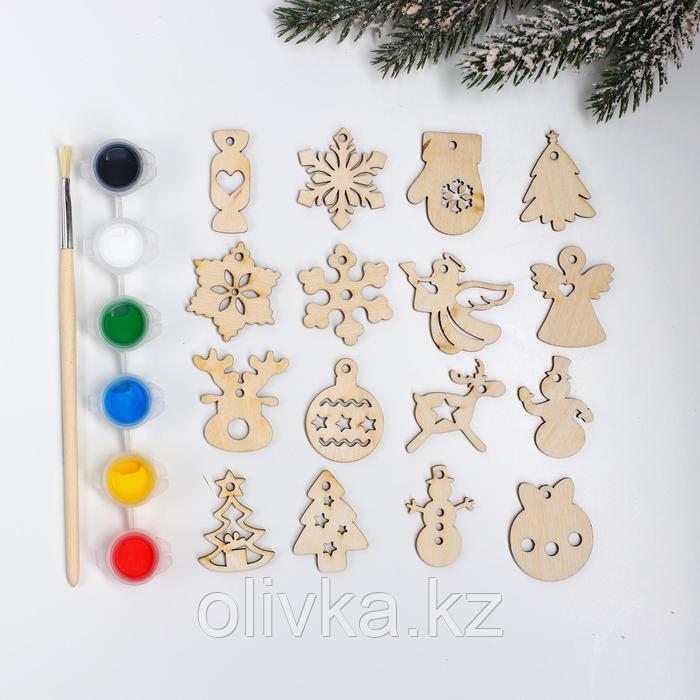 Подвески новогодние №4, 4×4 см - фото 1