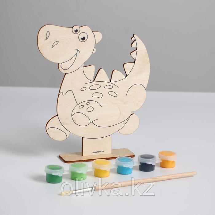 Роспись по дереву «Динозаврик» - фото 2