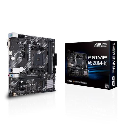 Материнская плата ASUS PRIME A520M-K AMD