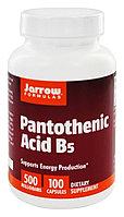 Пантотеновая кислота (витамин B5), Jarrow Formulas, 500 мг, 100 растительных капсул