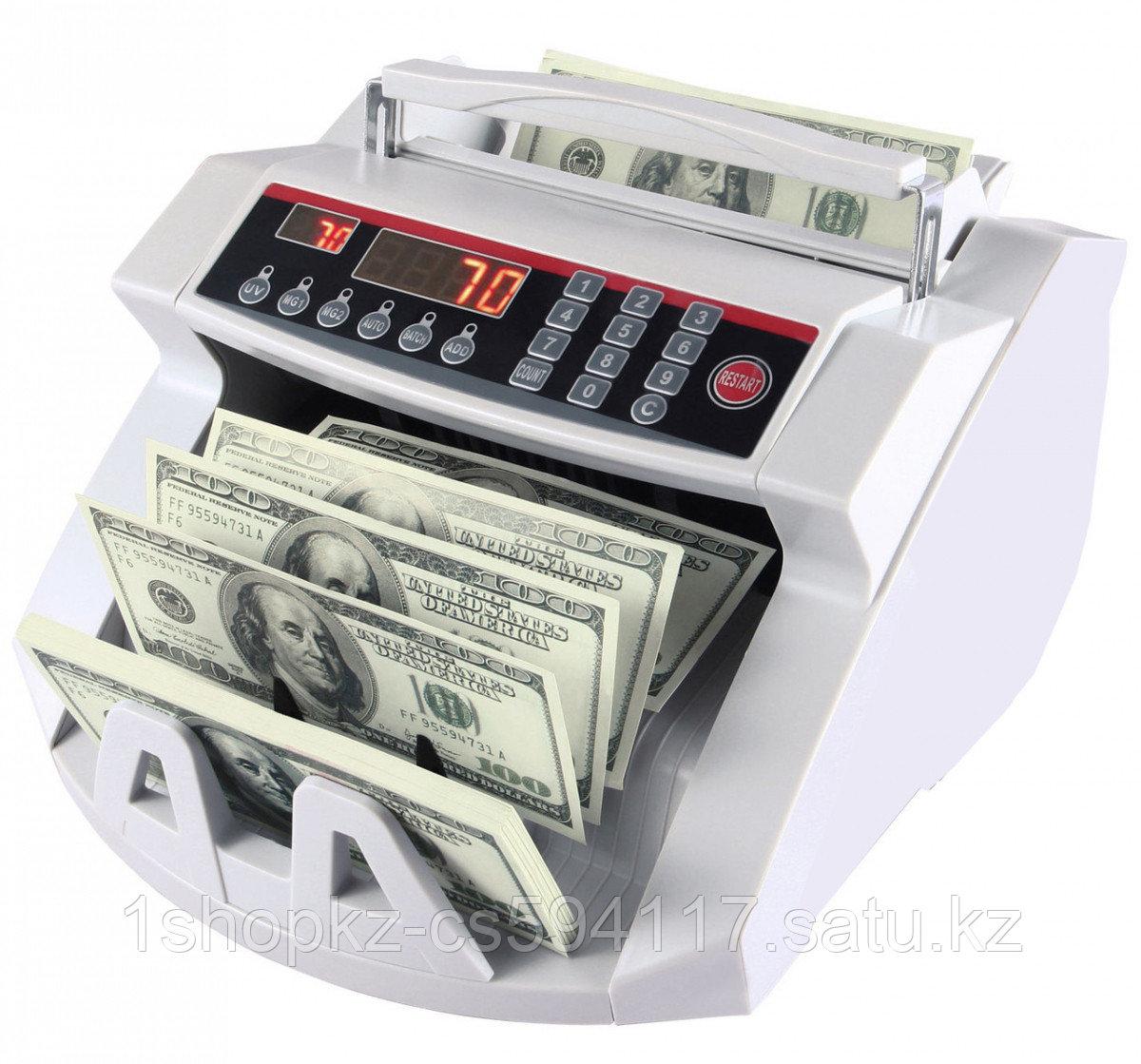 Счетчик банкнот bill counter 2108 c детектором uv   cчетная машинка + детектор валют