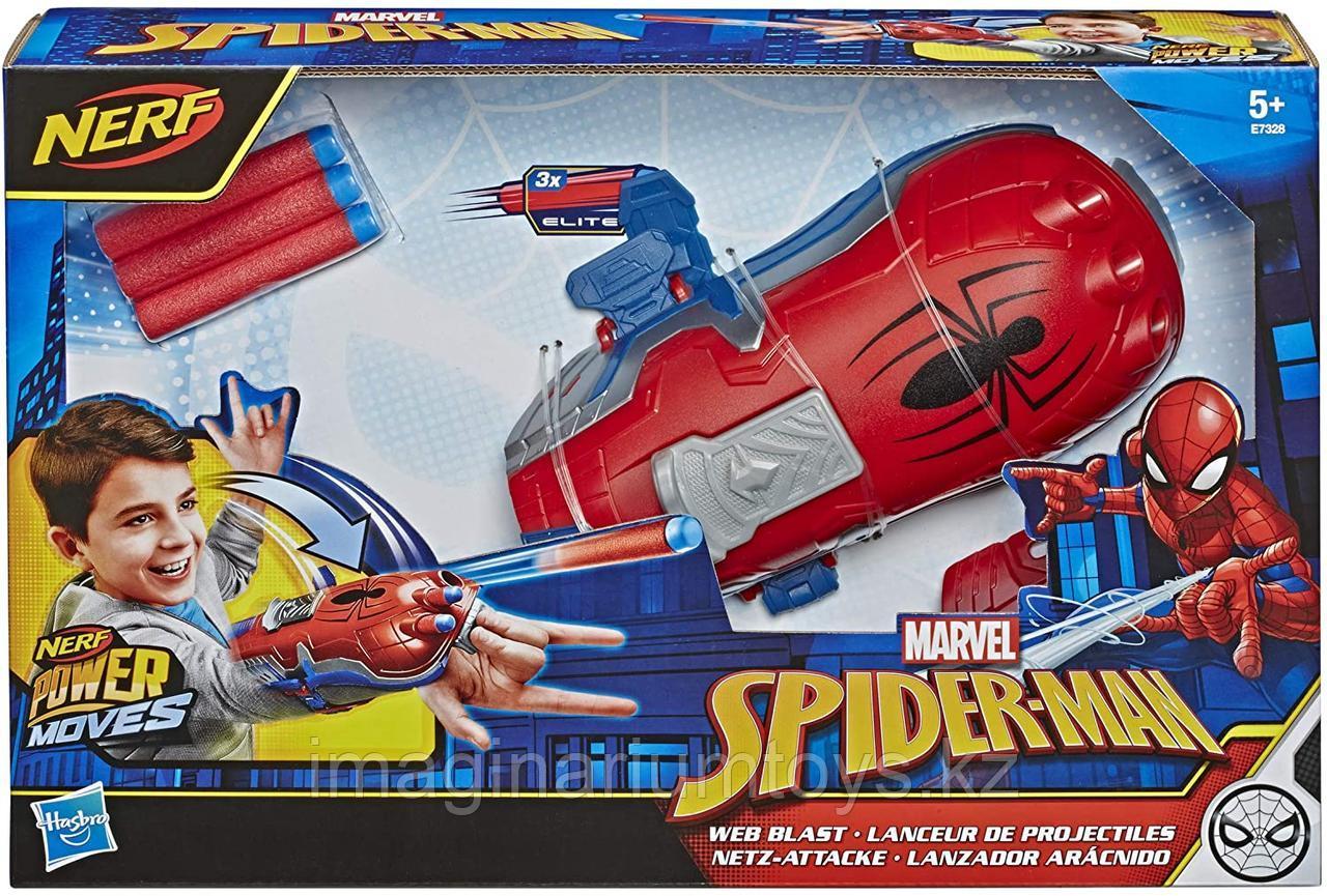 Аксессуар на руку бластер Человека-паука с патронами Nerf