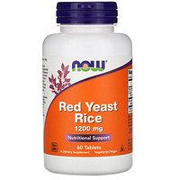 Красный ферментированный рис, Now Foods, 1200 мг, 60 таблеток