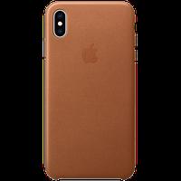 Оригинальный кожаный чехол для iPhone XS Max - Saddle Brown