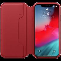 Оригинальный кожаный чехол Folio iPhone XS Max - (PRODUCT)RED