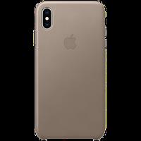 Оригинальный кожаный чехол iPhone XS Max - Taupe