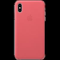 Оригинальный кожаный чехол для iPhone XS Max - Peony Pink