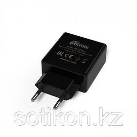 Зарядное устройство сетевое Ritmix RM-2025AC черный 2 USB