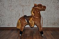 PITUSO FANDANGO Качалка-Лошадка с колесами коричневая с длинной гривой