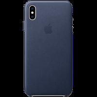 Оригинальный кожаный чехол для iPhone XS Max - Midnight Blue