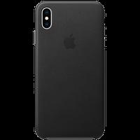 Оригинальный кожаный чехол для iPhone XS Max - Black