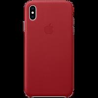 Оригинальный кожаный чехол для iPhone XS Max - (PRODUCT)RED