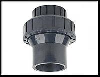 Обратный клапан односторонний с пружиной PVC для бассейна (50 мм), фото 1