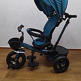 Велосипед детский трехколесный H6018 бирюза, фото 3