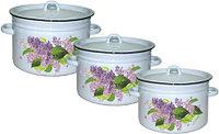Набор посуды 5, 7, 9 литров (Эмаль Магнитогорск, Россия)
