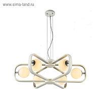 Люстра Avola, 6x40Вт G9, цвет белый, серебро