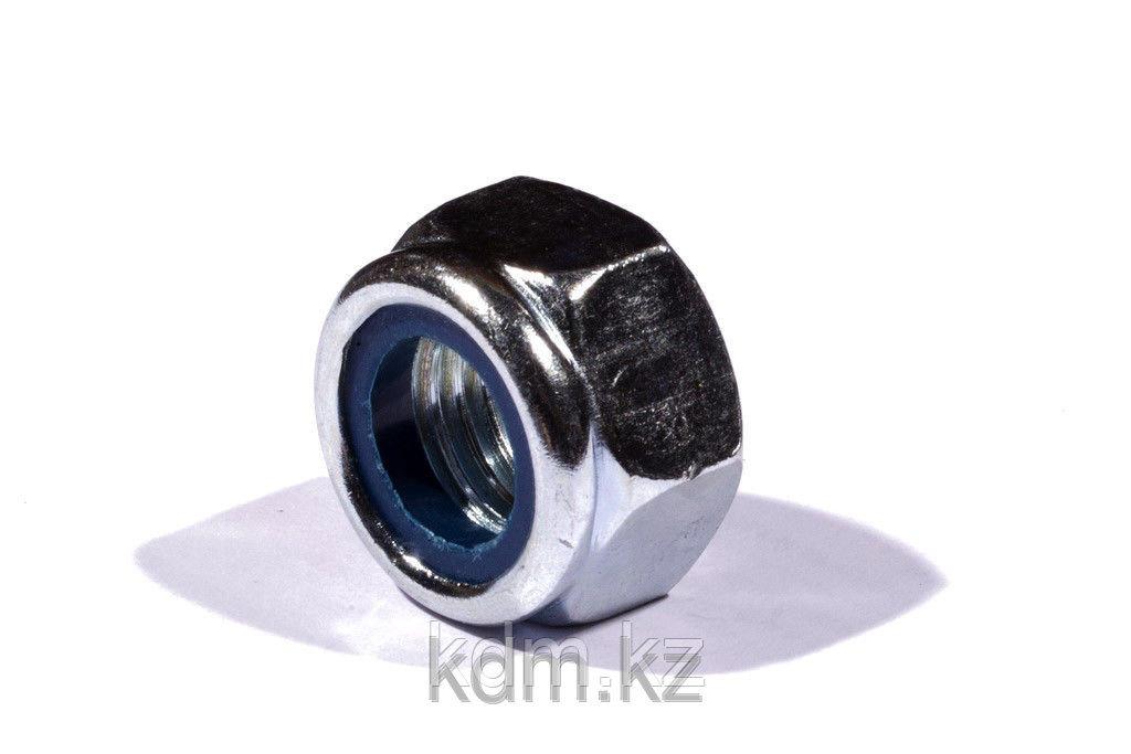 Гайка М12 с нейлоновым кольцом DIN 985 оц