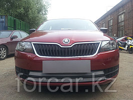 Защита радиатора Skoda Rapid 2013- chrome