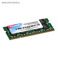 Память DDR2 2Gb 800MHz Patriot PSD22G8002S RTL PC2-6400 CL6 SO-DIMM 204-pin 1.8В