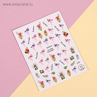 Наклейки для ногтей «Фламинго»