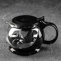 Чайник заварочный «Бетти», 800 мл, с металлическим ситом, цвет чёрный