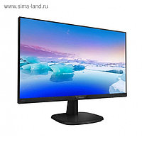 "Монитор Philips 243V7QSB (00/01) 23.8"", IPS, 1920x1080, 60Гц, 5мс, VGA, DVI, чёрный"