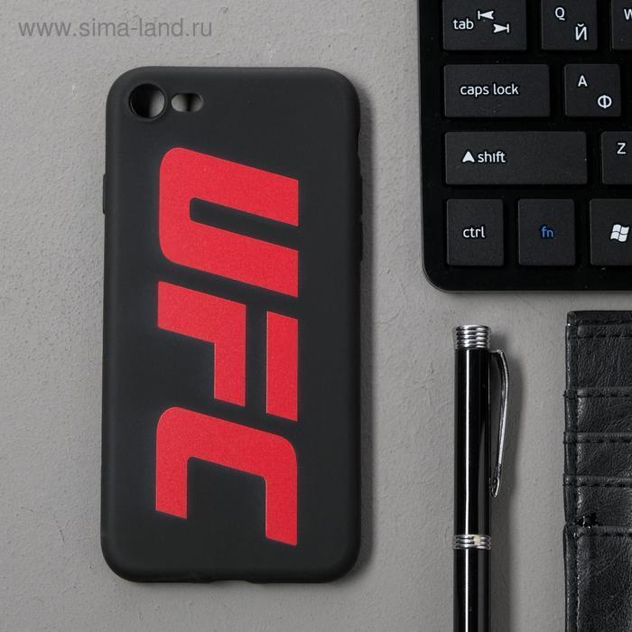 Чехол клип-кейс Red Line UFC для iPhone 7/8/SE 2020, черный - фото 1